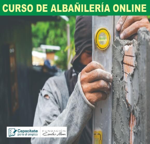 CURSO DE ALBAÑILERÍA ONLINE